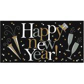 New Years Decorations Jumbo Plastic Happy New Year Banner Image
