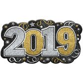 New Years Decorations 2019 Glitter Sign Image
