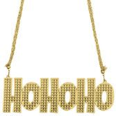 Christmas Party Wear Ho Ho Ho Bling Necklace Image