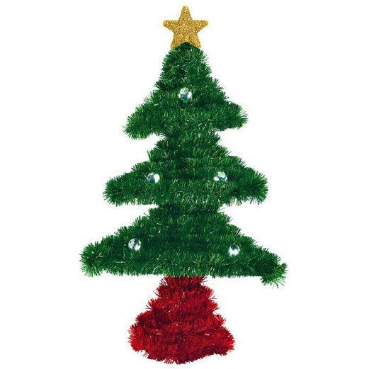 Christmas Decorations Small Tinsel Tree Image