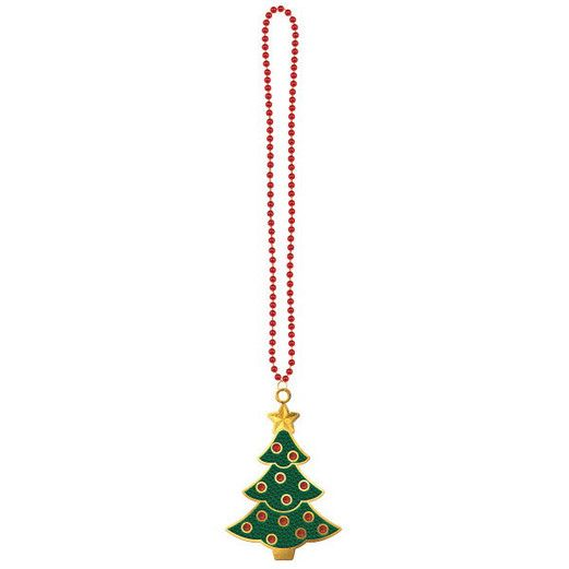 Christmas Party Wear Christmas Tree Bling Necklace Image