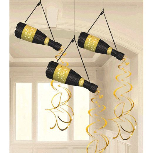 New Years Decorations New Year's Bottle Hanging Decorations Image
