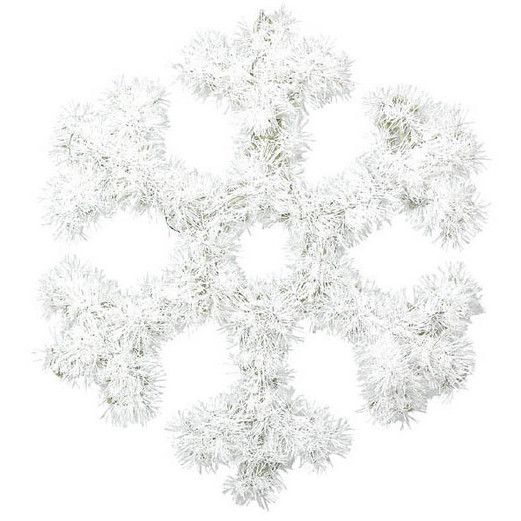 Christmas Decorations Snowflake Tinsel Decoration Image