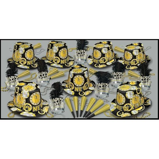 New Years Party Kits Silver Gold Times for 50 Image
