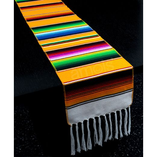 ac44c9fe78a Fiesta Table Accessories Golden Yellow Woven Serape Table Runner Image