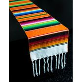 Fiesta Table Accessories Orange Woven Serape Table Runner Image