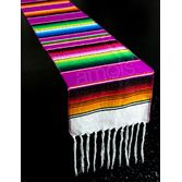 Fiesta Table Accessories Purple Woven Serape Table Runner Image