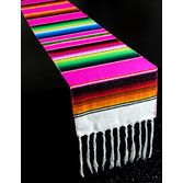 Fiesta Table Accessories Hot Pink Woven Serape Table Runner Image