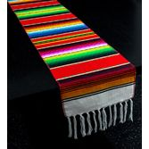 Fiesta Table Accessories Red Woven Serape Table Runner Image