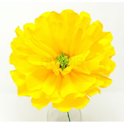 "Fiesta Decorations Solana's 8"" Yellow Flower Image"