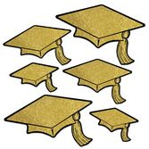 Graduation Decorations Glitter Graduation Cap Cutouts Image