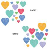Valentine's Day Decorations Candy Heart Cutouts Image