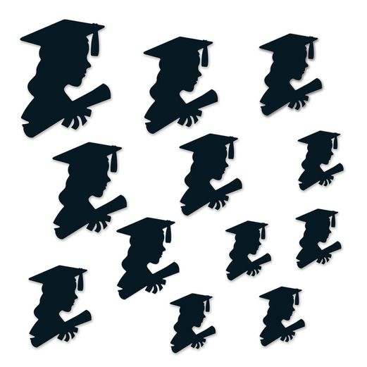 Graduation Decorations Girl Graduate Silhouettes Image