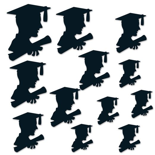Graduation Decorations Boy Graduate Silhouettes Image