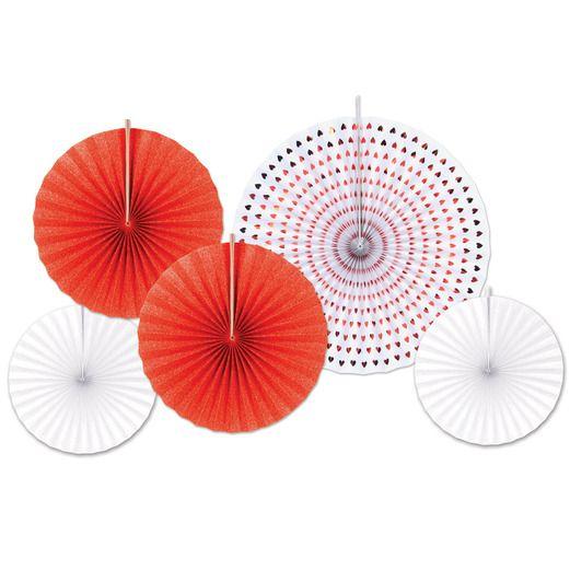 Valentine's Day Decorations Valentine Fan Assortment Image