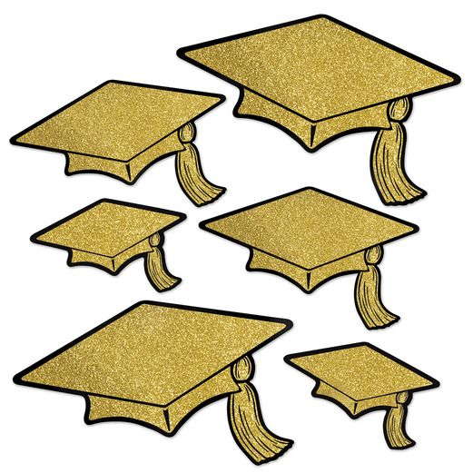 Graduation Decorations Glitter Graduation Cap Cutouts Image