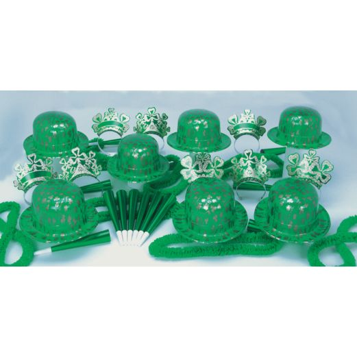 St. Patrick's Day Party Kits Lucky Shamrock Party Kit for 50 Image