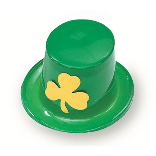 St. Patrick's Day Hats & Headwear Green Plastic Top Hat Image