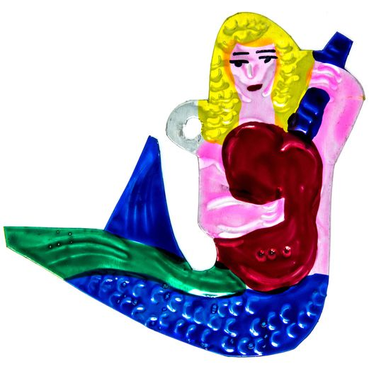 Decorations Mermaid Tin Ornament Image
