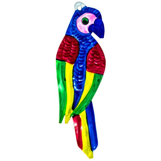 Fiesta Decorations Macaw Parrot Tin Ornament Image