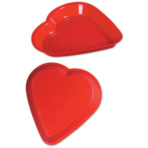 Valentine's Day Decorations Plastic Heart Tray Image