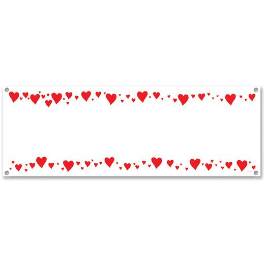 Valentine's Day Decorations Hearts Sign Banner Image