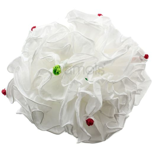 "Wedding Decorations White Peonies Bunch of 3 (8"") Image"