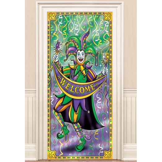 Mardi Gras Decorations Mardi Gras Door Curtain Image