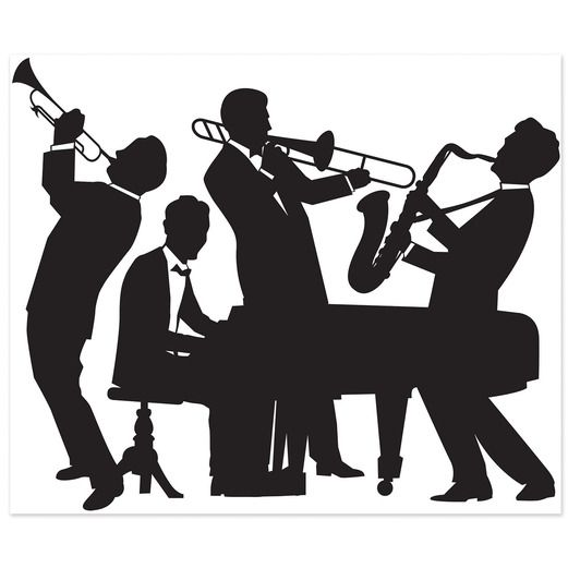 Awards Night & Hollywood Decorations Great 20's Jazz Band Insta-Mural Image