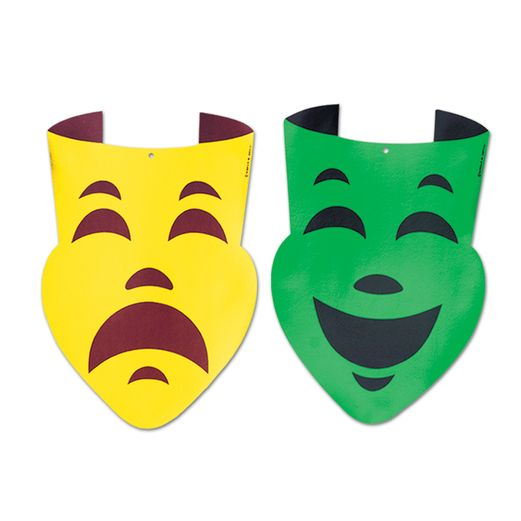 Mardi Gras Decorations Comedy & Tragedy Faces Image