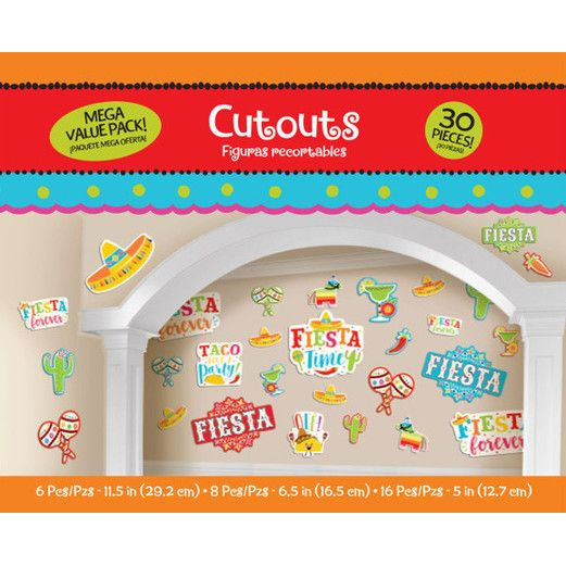 Fiesta Decorations Fiesta Mega Value Pack Cutouts Image