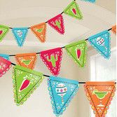 Fiesta Decorations Picado de Papel Flag Banner Image