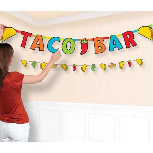 Fiesta Decorations Taco Bar Banner Set Image