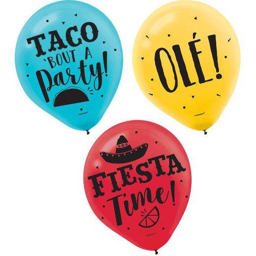 Fiesta Balloons Fiesta Latex Balloons Image