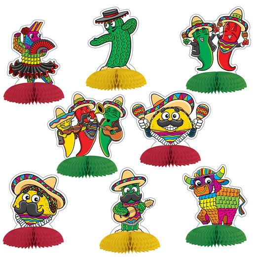 Fiesta Decorations Fiesta Pals Mini Centerpieces Image