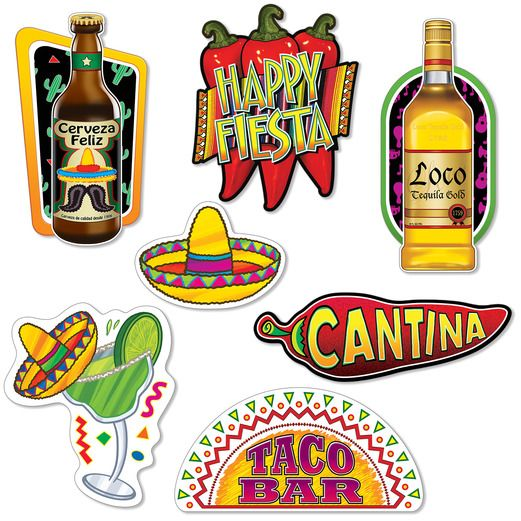 Fiesta Decorations Feliz Fiesta Cutouts Image