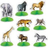 Jungle & Safari Decorations Safari  Animal Mini Centerpieces Image
