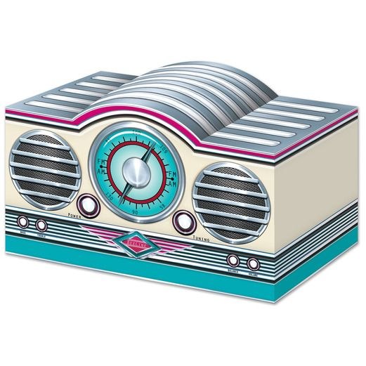 Fifties Decorations 3-D Rock & Roll Radio Centerpiece Image