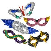 Party Wear Sequin Masks Image
