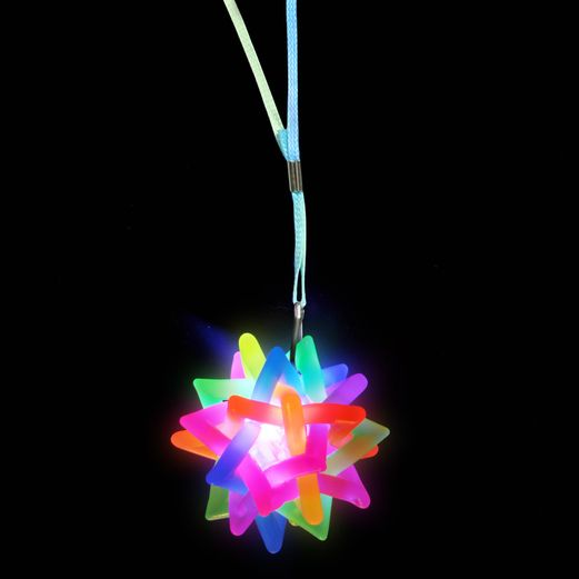 Glow Lights Flashing Twisted Ball Necklace Image