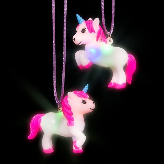 Glow Lights Light Up Unicorn Necklace Image
