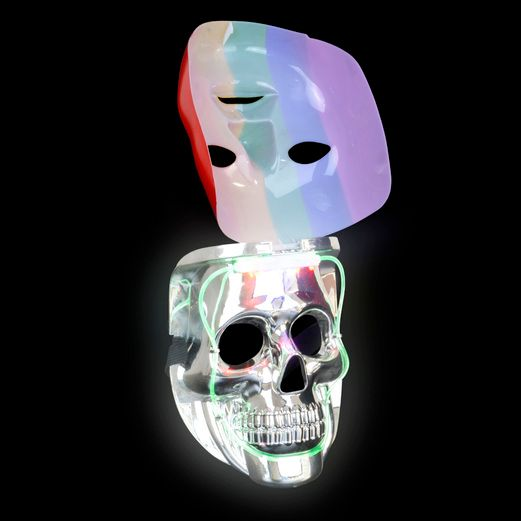 Glow Lights Light Up Rainbow Double Mask Image