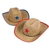 Western Hats & Headwear Adult Star Cowboy Straw Hat Image