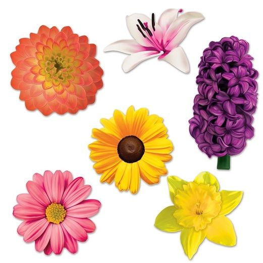 Spring & Summer Decorations Flower Cutouts Image