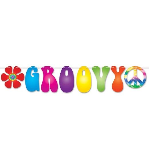 60s & 70s Decorations Groovy Streamer Image