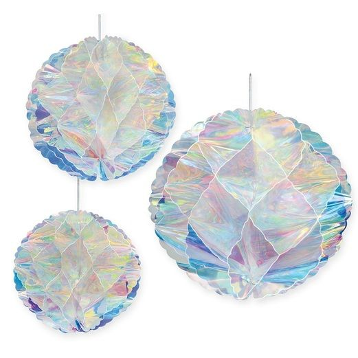 Decorations Iridescent Honeycomb Balls Image