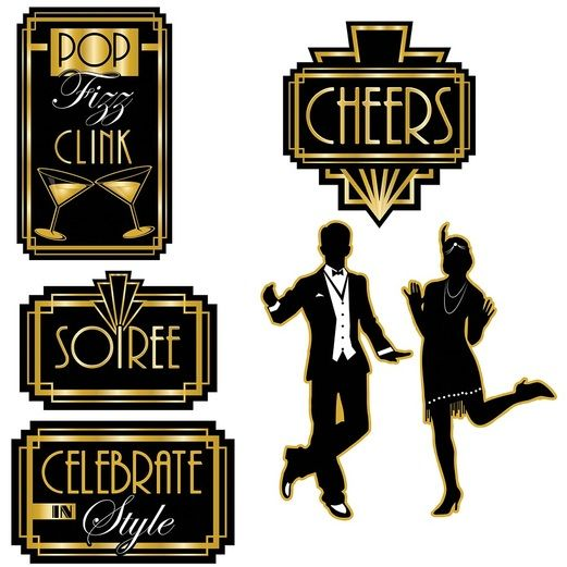 Awards Night & Hollywood Decorations Roaring 20's Cutouts Image