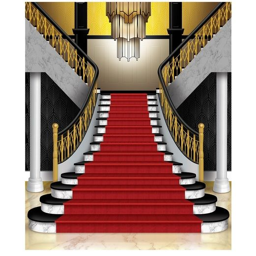 Awards Night & Hollywood Decorations Grand Staircase Insta-Mural Image