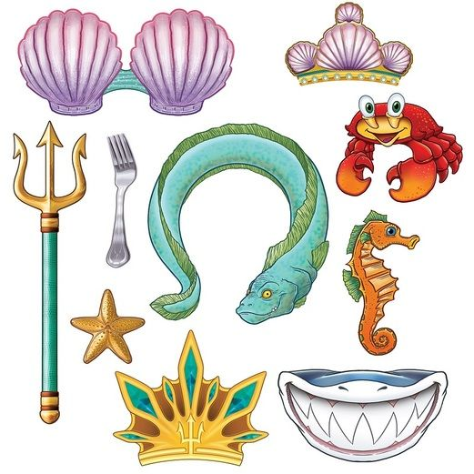 Birthday Party Decorations Mermaid Photo Fun Signs Image