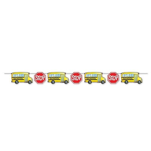 Back to School Decorations School Bus Streamer Image